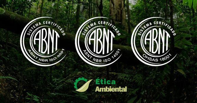 certificações da ABNT em uma empresa ambiental