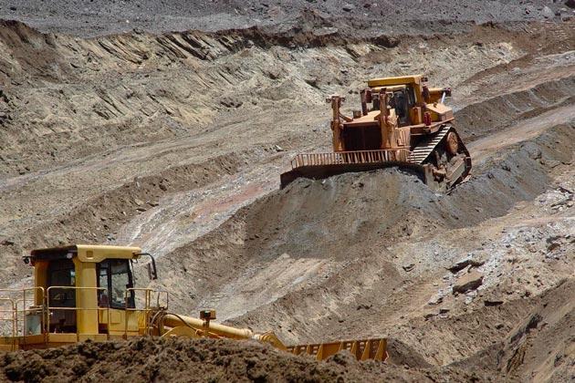 atividade mineradora em ação