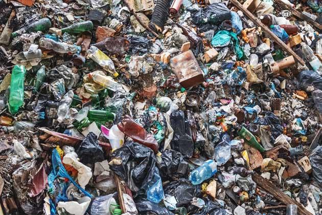 Conjunto de resíduos sólidos gerados na construção