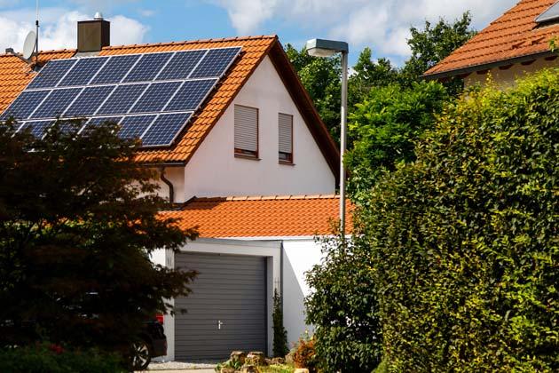 Imóvel com teto solar em casa