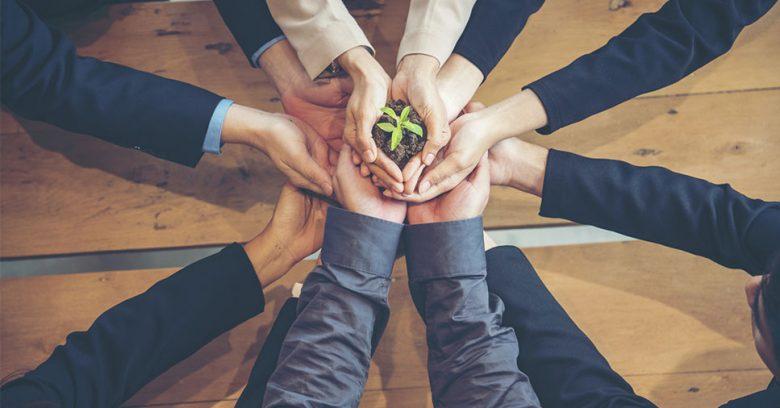 Na imagem vemos uma representação de uma empresa amiga do meio ambiente. Conheça as práticas ideais!