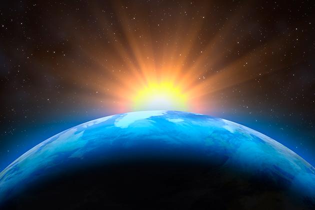 Vemos a Terra e o Sol. Quer contribuir para a preservação da Camada de Ozônio? Confira!